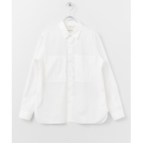 (URBAN RESEARCH DOORS/アーバンリサーチドアーズ)UNIFY W pocket Shirts/レディース WHITE
