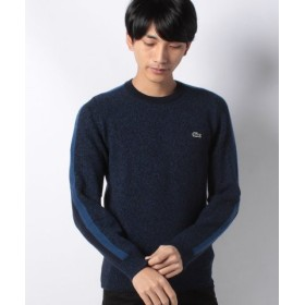 (LACOSTE/ラコステ)スリーブラインドメランジェ-ウールセーター/メンズ ブルー