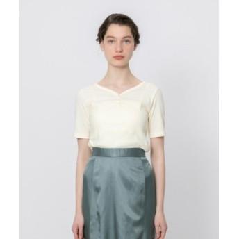 (SENSE OF PLACE/センスオブプレイス)ヘンリーネックTシャツ(5分袖)/レディース OFFWHITE