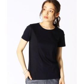 (COMME CA ISM/コムサイズム)ベーシック 半袖 Tシャツ/レディース ネイビー