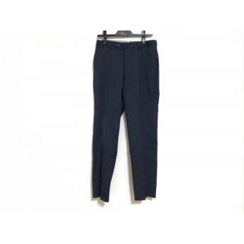 【中古】 トゥモローランド TOMORROWLAND パンツ サイズ42 L メンズ 黒 ネイビー Loro Piana