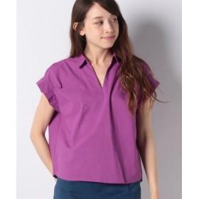(Te chichi/テチチ)Lugnoncure 接触冷感 袖タックスキッパーシャツ/レディース パープル