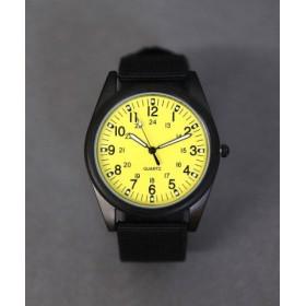 (ninon/ニノン)【蓄光】 ミリタリーウォッチ/ユニセックス腕時計 レディース/レディース イエロー