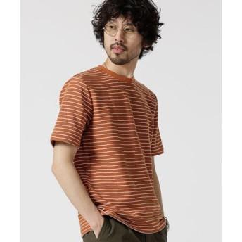 (nano・universe/ナノ・ユニバース)ジャガードボーダークルーネックTシャツ/メンズ パターン3
