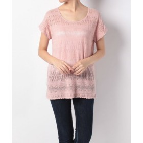 (Eddie Bauer OUTLET/エディー・バウアー・アウトレット)SCOOP LACE TOP/レディース ピンク