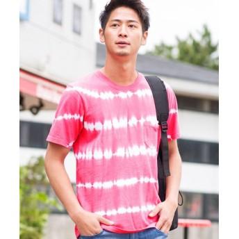 (SILVER BULLET/シルバーバレット)VICCI【ビッチ】タイダイ染めクルーネック半袖Tシャツ/メンズ レッド