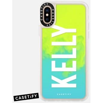 CASETiFY iPhone Xs ケース 名前入りキラキラ ケース イニシャルグリッターケース ケース 名前 ケース 名前 入り