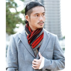 (JIGGYS SHOP/ジギーズショップ)日本製リバーシブルマフラー/マフラー メンズ ユニセックス レディース ペア カップル ストライプ/メンズ その他系2