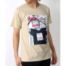 (MARUKAWA/マルカワ)エンボスガールフォト 半袖Tシャツ/メンズ 柄2
