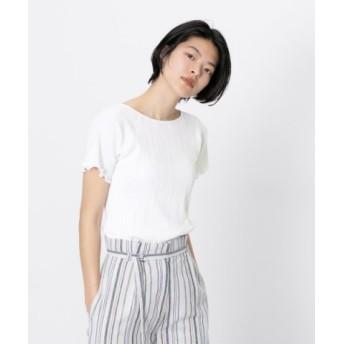 (SENSE OF PLACE/センスオブプレイス)オーガニックコットンリブTシャツ(半袖)/レディース OFFWHITE