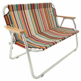 ロゴス LOGOS neos チェアfor2-ST(オレンジストライプ) 73173082 4981325528768 チェア イス 椅子