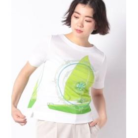 (LA JOCONDE/ラ ジョコンダ)【洗える】ソフトフライス プリントTシャツ/レディース グリーン 送料無料