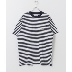 (URBAN RESEARCH Sonny Label/アーバンリサーチサニーレーベル)carhartt SHORT-SLEEVE BARKLEY POCKET T-SHIRTS/メンズ NVY/WH 送料無料