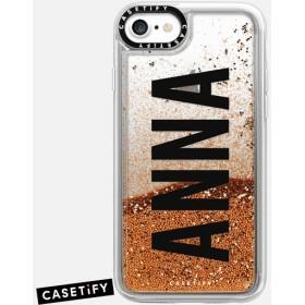 CASETiFY iPhone 7 ケース 名前入りキラキラ ケース イニシャルグリッターケース ケース 名前 ケース 名前 入り