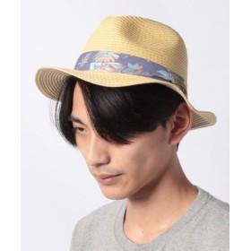 (ONEDAY KMC/ワンデイケイエムシー)MALIBU SHIRTS/ALOHA PAPERBRAID HAT/メンズ ベージュ