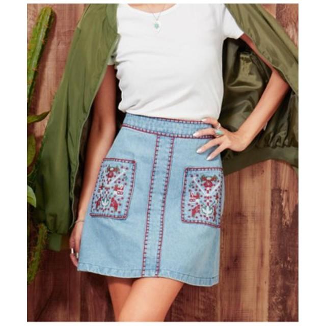 (ANAP/アナップ)刺繍スカート/レディース BL