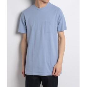 (Men's Bigi/メンズビギ)ロング丈ポケットTシャツ[キシリトール加工]/メンズ サックスブルー