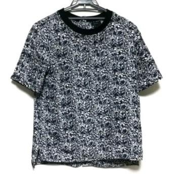 【中古】 セオリー theory 半袖Tシャツ サイズS レディース 白 黒 花柄