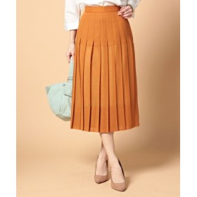 (beautifulpeople/ビューティフルピープル)wool voilelayer pleats skirt/レディース オレンジ