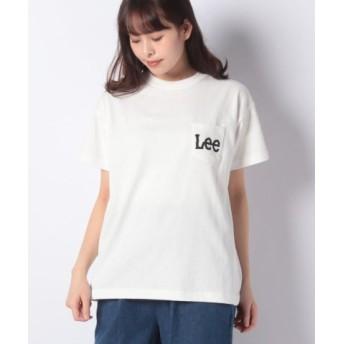 (LEE/リー)Leeロゴ Tシャツ/レディース ホワイト