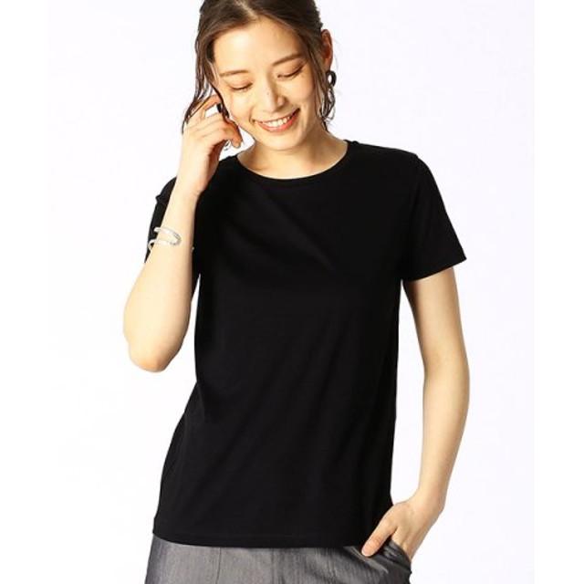 (COMME CA ISM/コムサイズム)ベーシック 半袖 Tシャツ/レディース ブラック