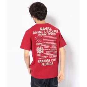 (AVIREX/アヴィレックス)刺繍 Tシャツ ダイビング&サルベージ/EMB CREW NECK T-SHIRT DIVING & SALVAGE/メンズ RED 送料無料