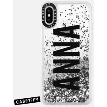 CASETiFY iPhone X ケース 名前入りキラキラ ケース イニシャルグリッターケース ケース 名前 ケース 名前 入り