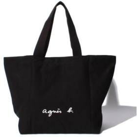 (agnes b. Voyage/アニエスベー ボヤージュ)★【WEB限定】GO03-01 ロゴトートバッグ/レディース ブラック 送料無料
