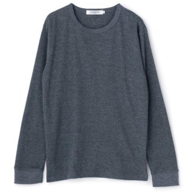 (Men's Bigi/メンズビギ)【FINE BOYS 4月号】ワッフルUネックロングTシャツ/メンズ ネイビー