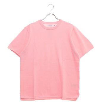 セブンデイズ サンデイ SEVENDAYS=SUNDAY outlet ミラノリブ 半袖ニットプルオーバー (ピンク)
