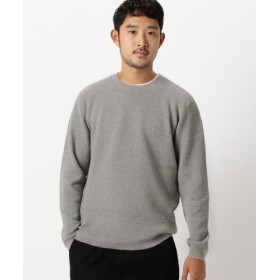 (BEAMS OUTLET/ビームス アウトレット)BEAMS/ライトワッフル ニット/メンズ TOPGREY