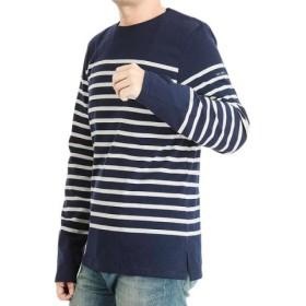 (ECHELLE Liberte/エシェルリベルテ)SAINT JAMES NAVAL ナバル Tシャツ 2691 ユニセックス/ユニセックス ダークブルー×ホワイト