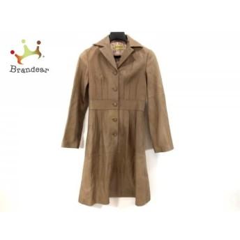 ホコモモラ JOCOMOMOLA コート サイズ40 XL レディース ブラウン 冬物/羊皮 新着 20190508