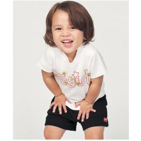 X-girl Stages ミルズロゴ&キラッキープリントTシャツ(ホワイト)【返品不可商品】