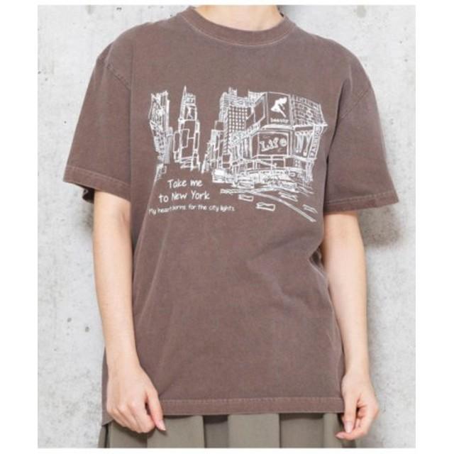 (Factor=/ファクターイコール)NYCITY Tシャツ/レディース ブラウン