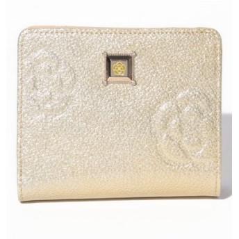 (CLATHAS/クレイサス(バッグ))マリーゴールド 2つ折り財布/レディース ゴールド 送料無料