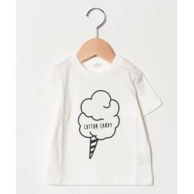 (b-ROOM/ビールーム)フードプリントTシャツ/レディース ホワイト1