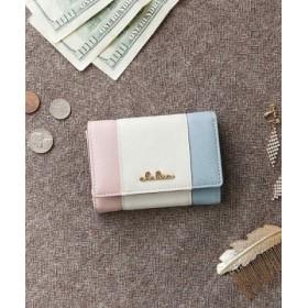 (KAZZU/カッズ)折り財布 小さい財布 財布 レディース 三つ折り ボックス型小銭入れ トリコロール/レディース その他系1 送料無料