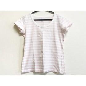 【中古】 アニエスベー agnes b 半袖Tシャツ レディース ピンク 白 ボーダー
