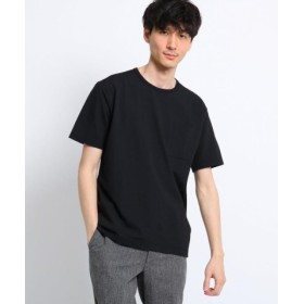 (TAKEO KIKUCHI/タケオキクチ)シアサッカー ポケット Tシャツ/メンズ ブラック(019)