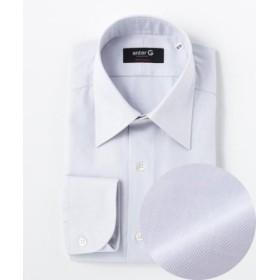 (enter G/エンタージー)【日本製】ヘリンボンチェックシャツ/メンズ ライトグレー系8 送料無料