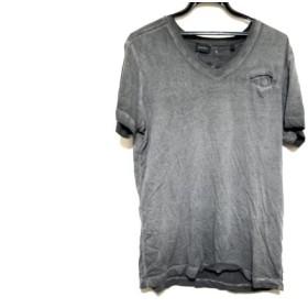 【中古】 ディーゼル DIESEL 半袖Tシャツ サイズM メンズ ダークグレー Vネック