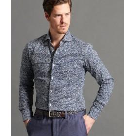 (MONSIEUR NICOLE/ムッシュニコル)フラワープリントシャツ/メンズ 60ブルー 送料無料