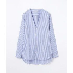 (TOMORROWLAND/トゥモローランド)MARIE MAROT コットン Vネックシャツ/レディース 68ブルー系 送料無料