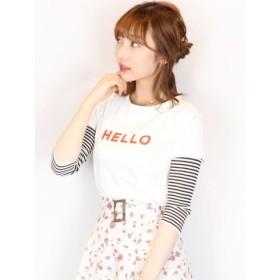 (dazzlin/ダズリン)【C】HELLOTシャツ/レディース オフホワイト