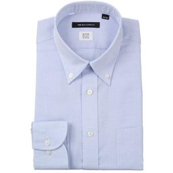 【THE SUIT COMPANY:トップス】【ICE COTTON】ボタンダウンカラードレスシャツ 織柄 〔EC・BASIC〕