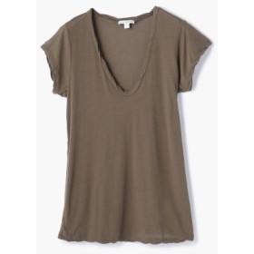 (TOMORROWLAND/トゥモローランド)ハイゲージ VネックTシャツ WEK3182/レディース 58ダークグリーン