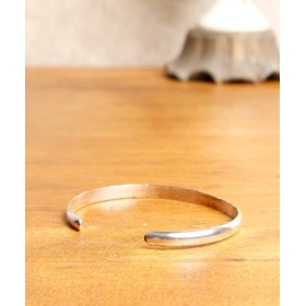 (ability/アビリティ)NORTH WORKS Stamped 900Silver super narrow 2 Cuff Bracelet 2/ユニセックス シルバー系