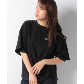 (Green Parks/グリーンパークス)胸元ロゴワイドTシャツ/レディース ブラック