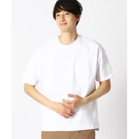 (COMME CA ISM/コムサイズム)★雑誌掲載商品★ ポケット付 半袖 Tシャツ/メンズ ホワイト